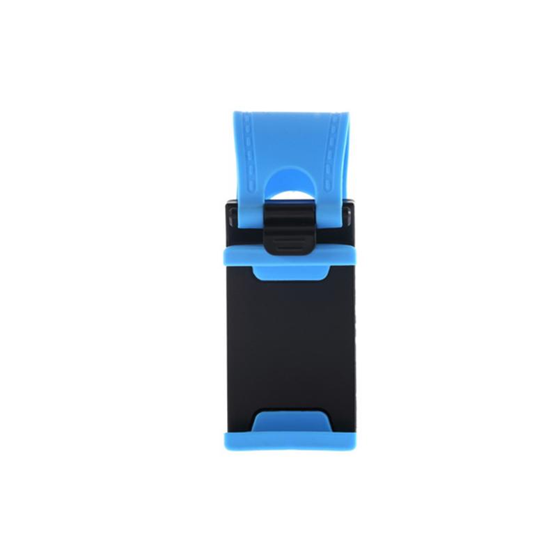 Hanging Button Type Car Steering Wheel Phone Holder Car Phone Holder Car Navigation Phone Bracket Blue