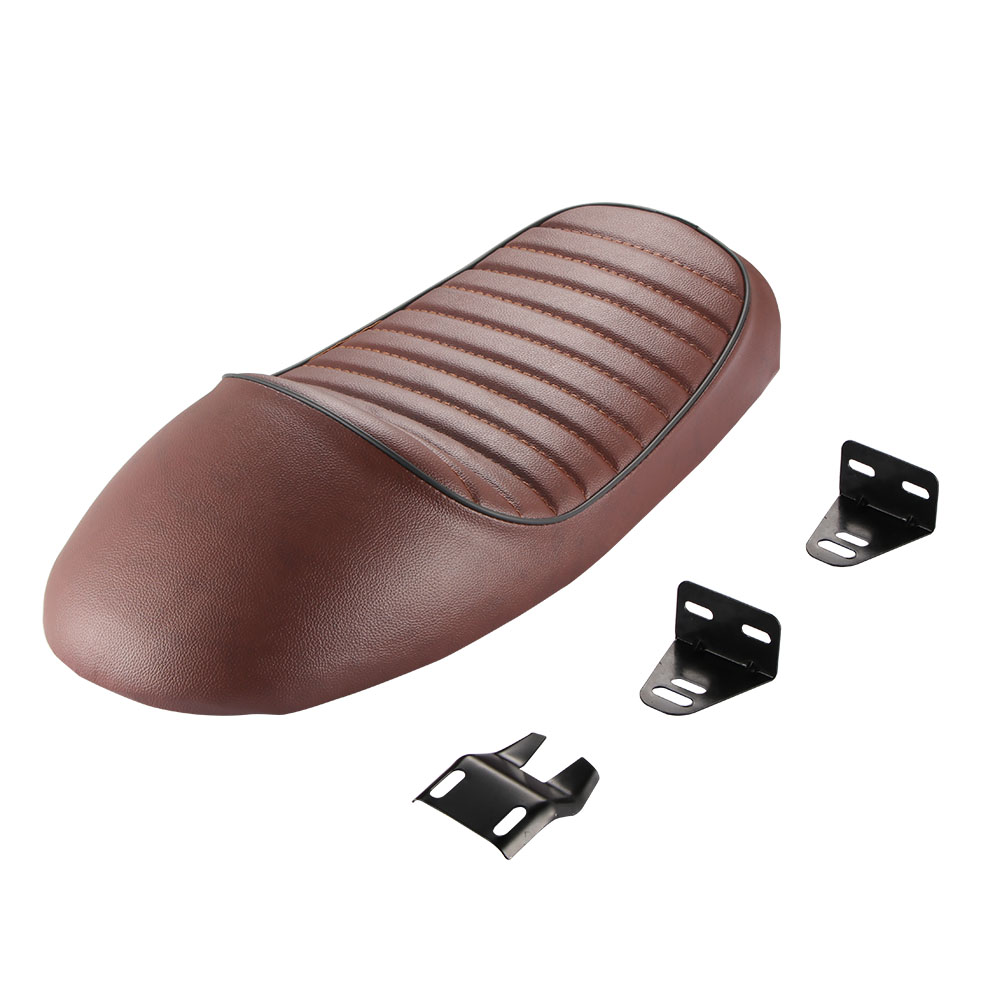 Brown Retro Vintage Motorcycle Seat Saddle Cover Hump Cafe Racer for Honda X2O6 brown