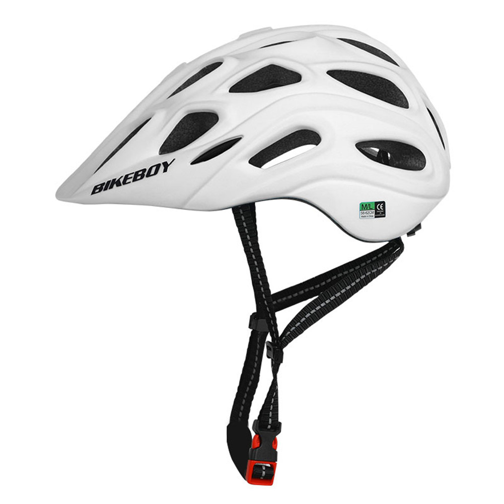 Professional Road Mountain Bike Helmet with Glasses Ultralight MTB All-terrain Sports Riding Cycling Helmet white_One size