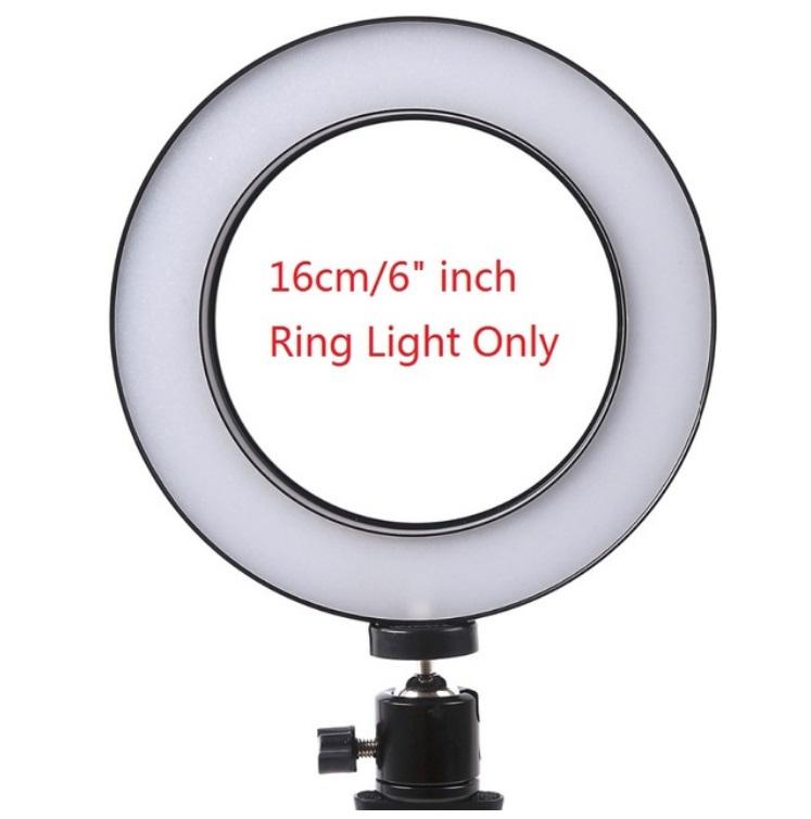 [Indonesia Direct] 16/26cm Dimmable LED Studio Camera Ring Light Phone Video Light Lamp Selfie Stick Ring Table Fill Light Single lamp 16CM
