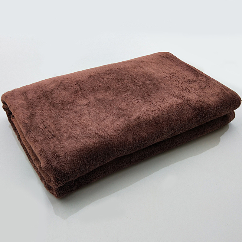 Microfiber Towel Car Wash Cloth Auto Cleaning Thick Strong Water Absorption For Car Home Automobile Brown 80 * 180CM