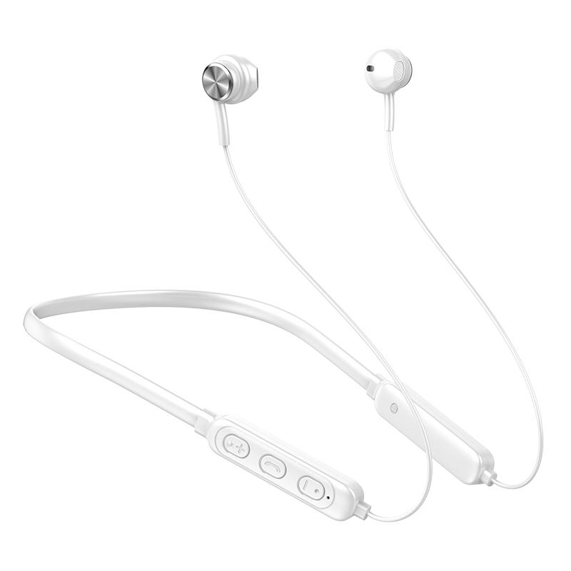 Ergonomic Earphones Lightweight Hanging Neck Wireless Bluetooth Sports Earphone GB04 White