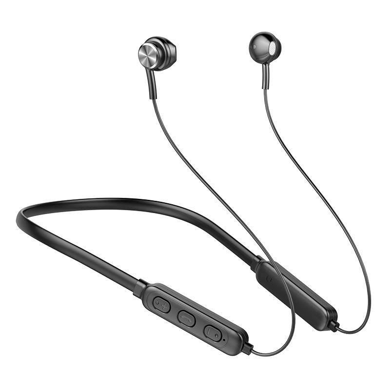 Ergonomic Earphones Lightweight Hanging Neck Wireless Bluetooth Sports Earphone GB04 Black