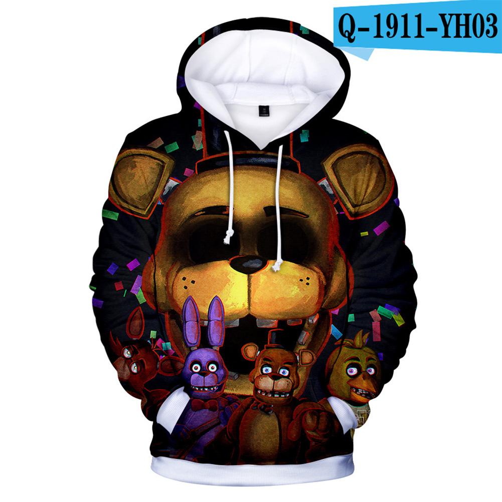 Men Women Five Nights at Freddy Toy Bear Digital Printing 3D Hooded Sweatshirts Q-1911-YH03 B style_L