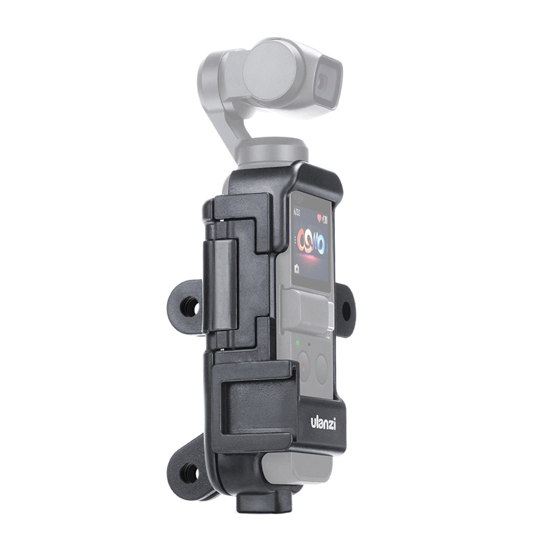 ULANZI Vlog Extended Housing Case for DJI Osmo Pocket Cage with Microphone Cold Shoe 3 GoPro Adapter  black