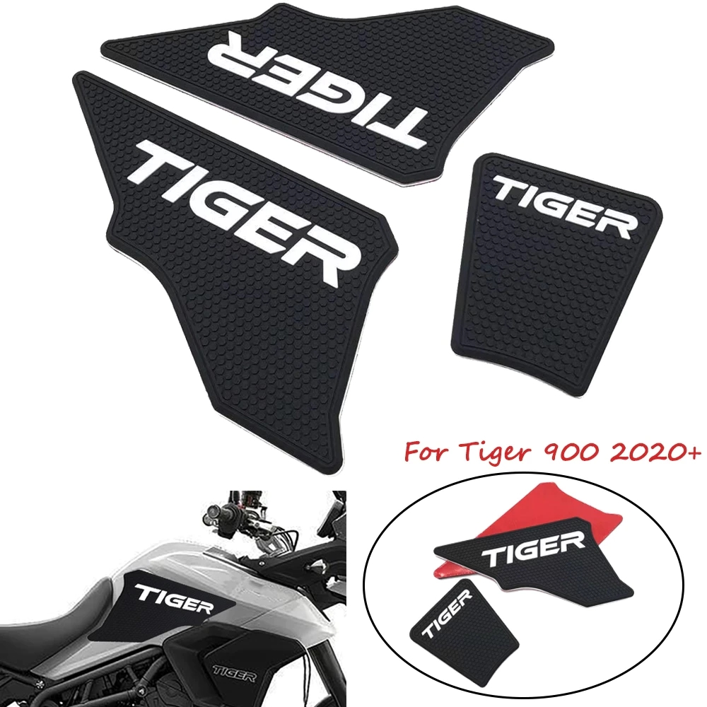 Motorcycle Gas Tank Side Grip Traction Knee Protector Sticker Anti Slip Pad For Triumph Tiger 900 Black