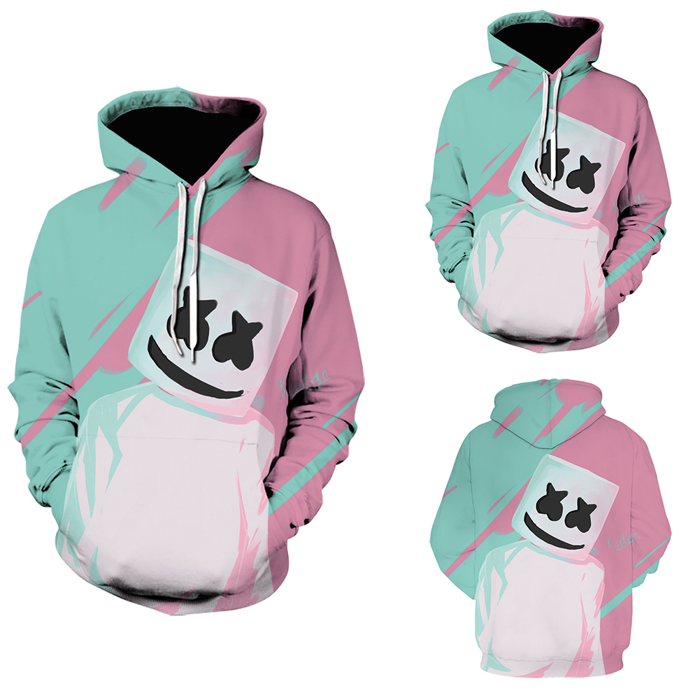 Leisure Hoodie 3D Digital Printed Sweater Loose Casual Pullover Top for Man WE-1370_XL