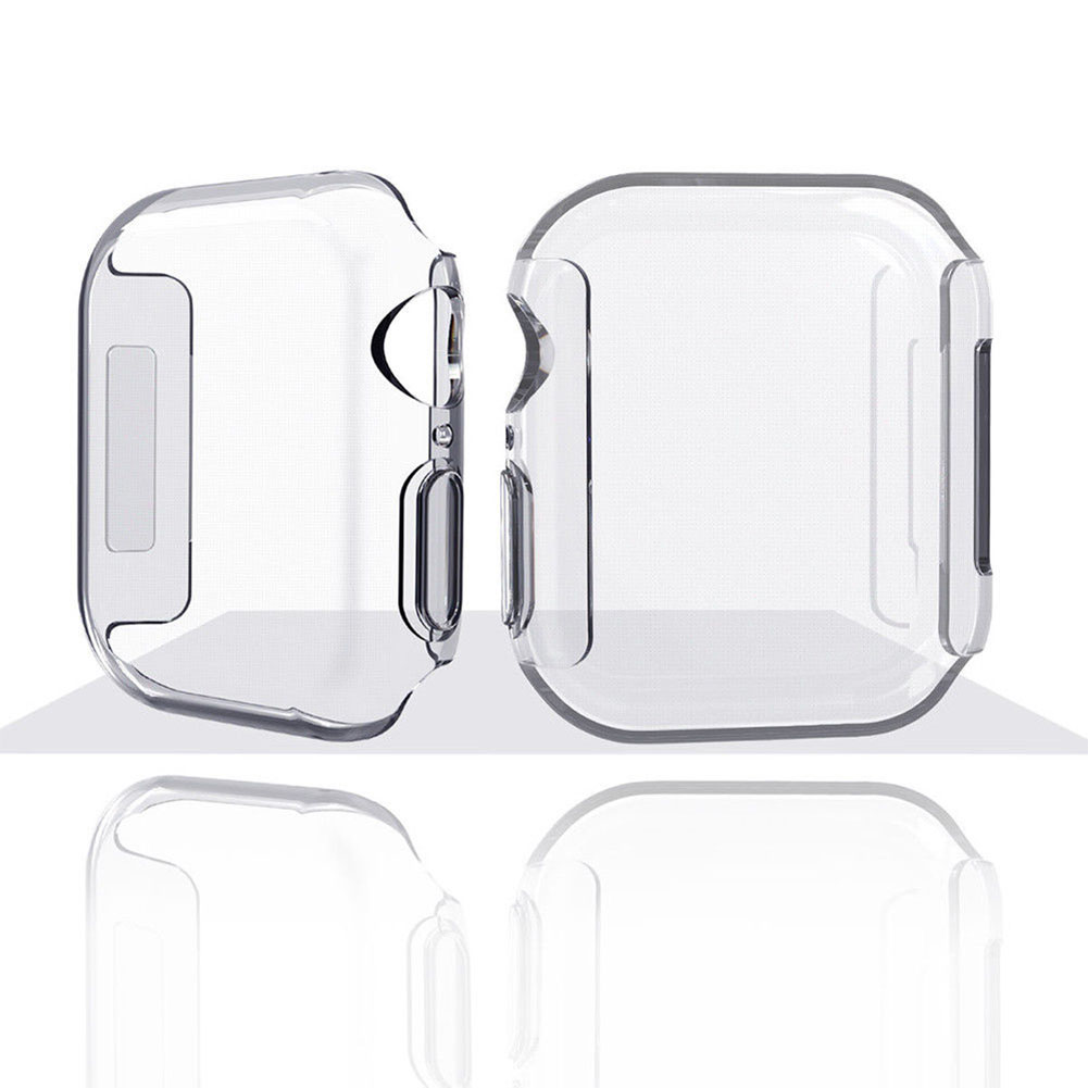 [EU Direct] For Apple Watch Series 4 TPU Slim Clear Case Screen Protector Full Cover 40mm