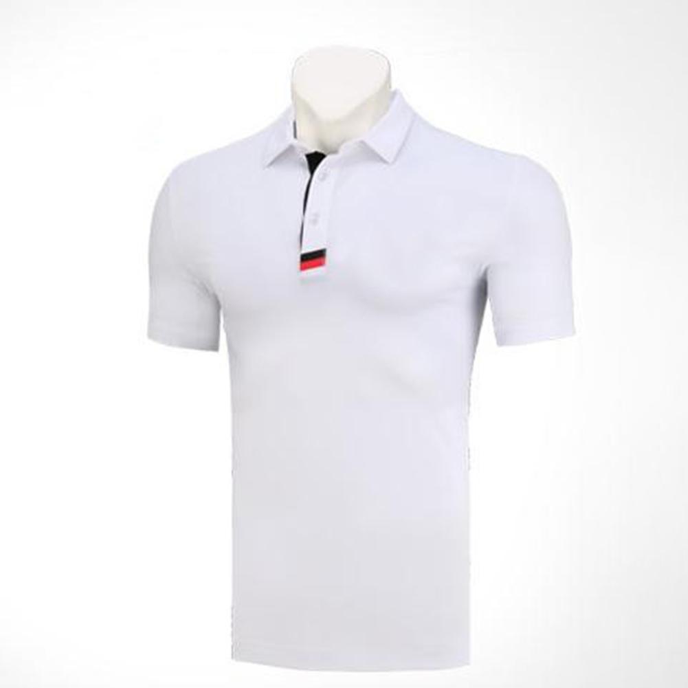 Golf Clothes Male Short Sleeve T-shirt Summer Golf Ball Uniform for Men white_L