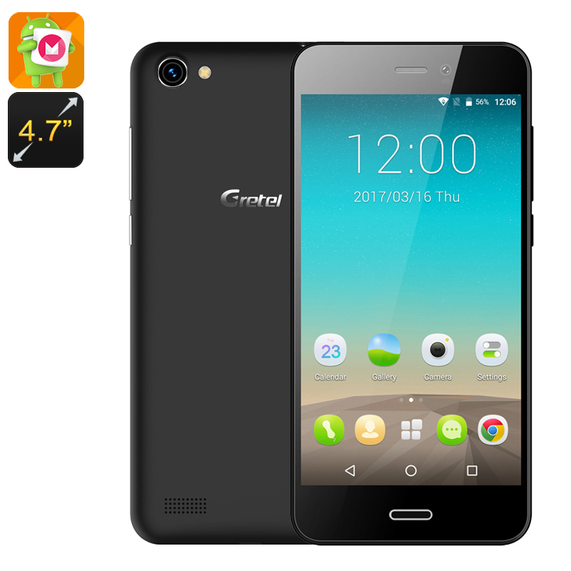 Gretel A7 Android Phone (Black)