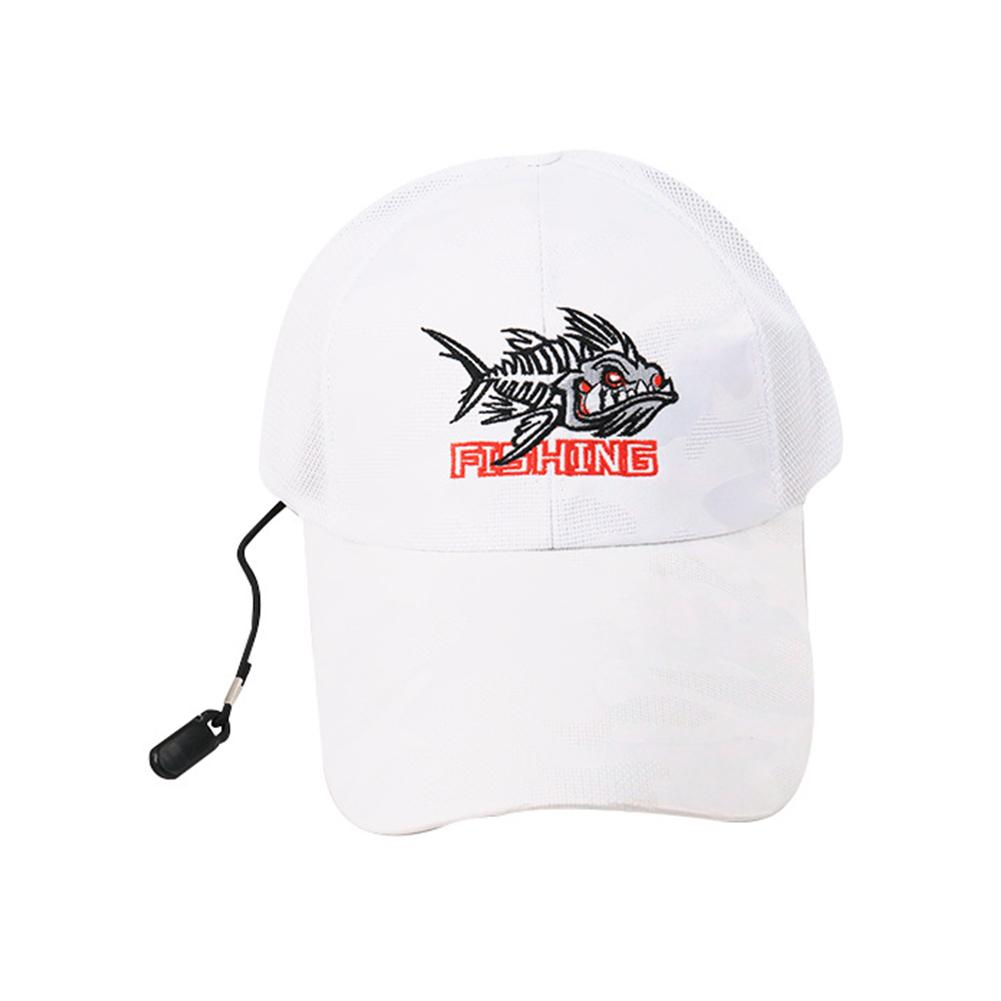 Adjustable Outdoor Sport Fishing Sunshade Sport Mesh Breathable Fishermen Hat Baseball Cap white