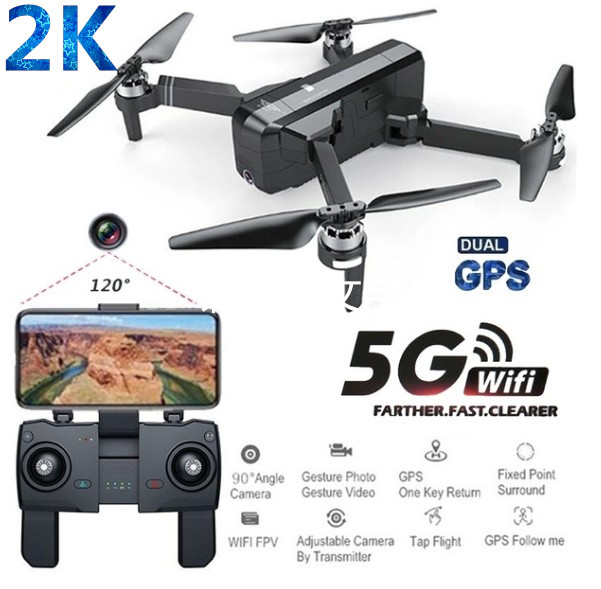 SJRC F11 PRO GPS 5G Wifi FPV With 2K Camera 25mins Flight Time Brushless Selfie RC Drone Quadcopter 2 battery