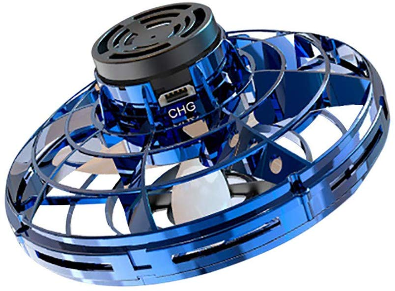 FlyNova Finger Flying Spinner Returning Gyro Kid Gift Outdoor Gaming Saucer Disc blue