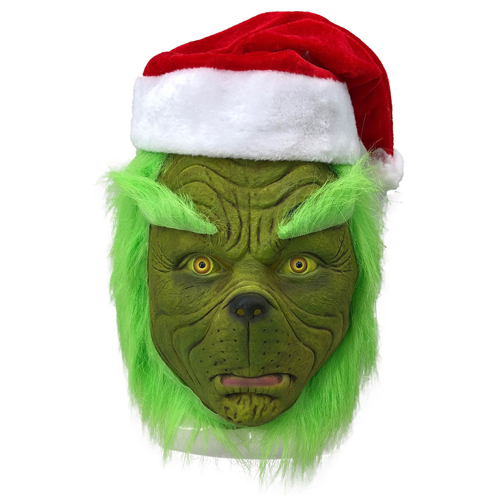 Scarry Full Head Mask Costume Halloween Christmas Masquerade Party Prop Cosplay for Adult