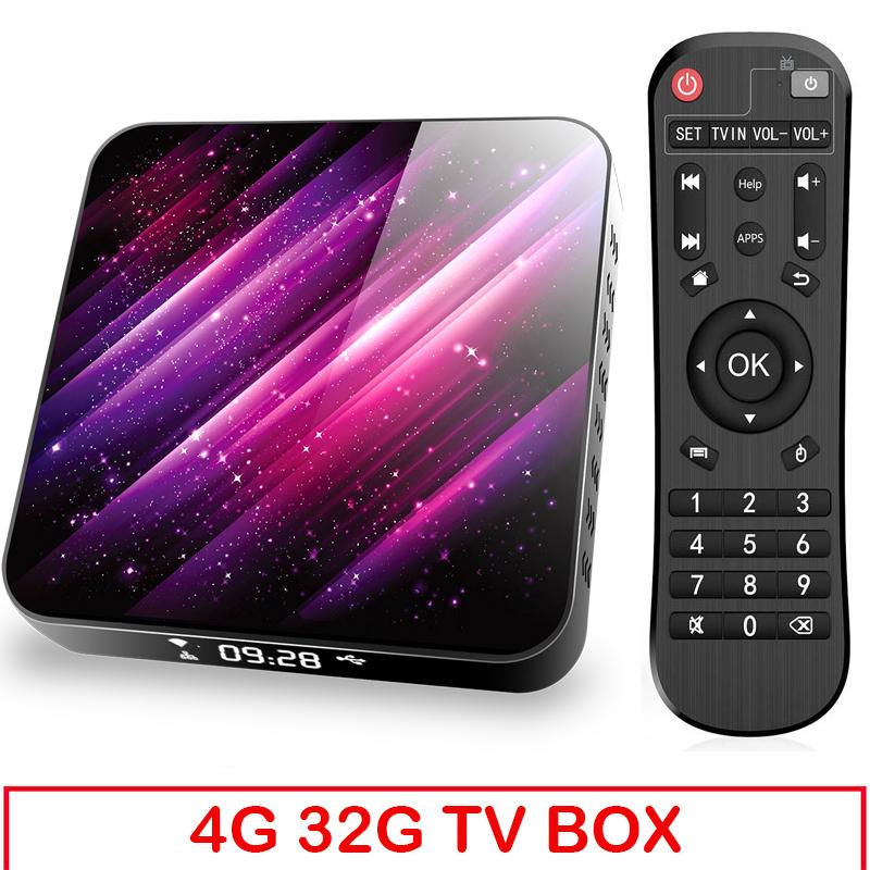 Tp03 Tv  Box H616 Android 10 4+32g D Video 2.4g 5ghz Wifi Bluetooth Smart Tv Box 4+32G_UK plug