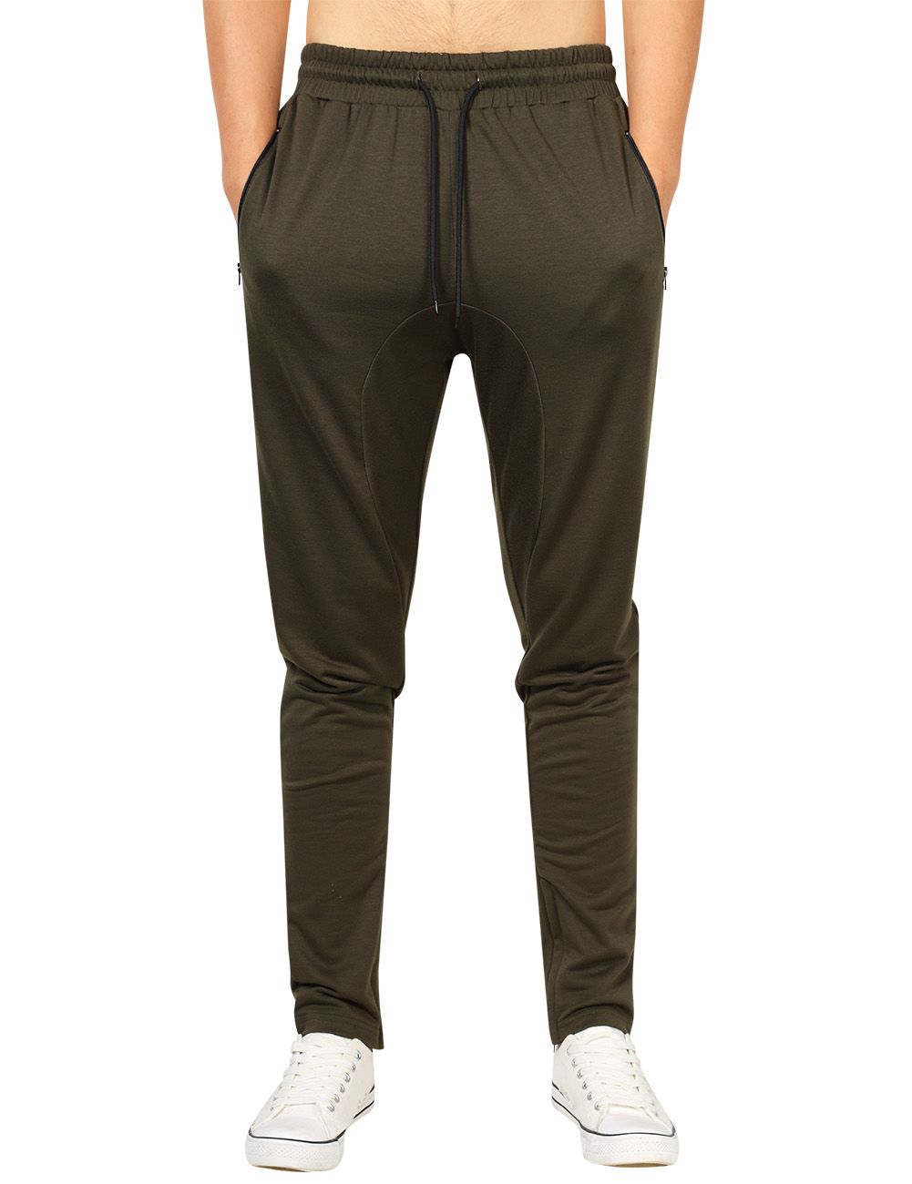 [US Direct] Yong Horse Men's Casual Jogger Pants Fitness Workout Gym Running Sweatpants ArmyGreen_XXL
