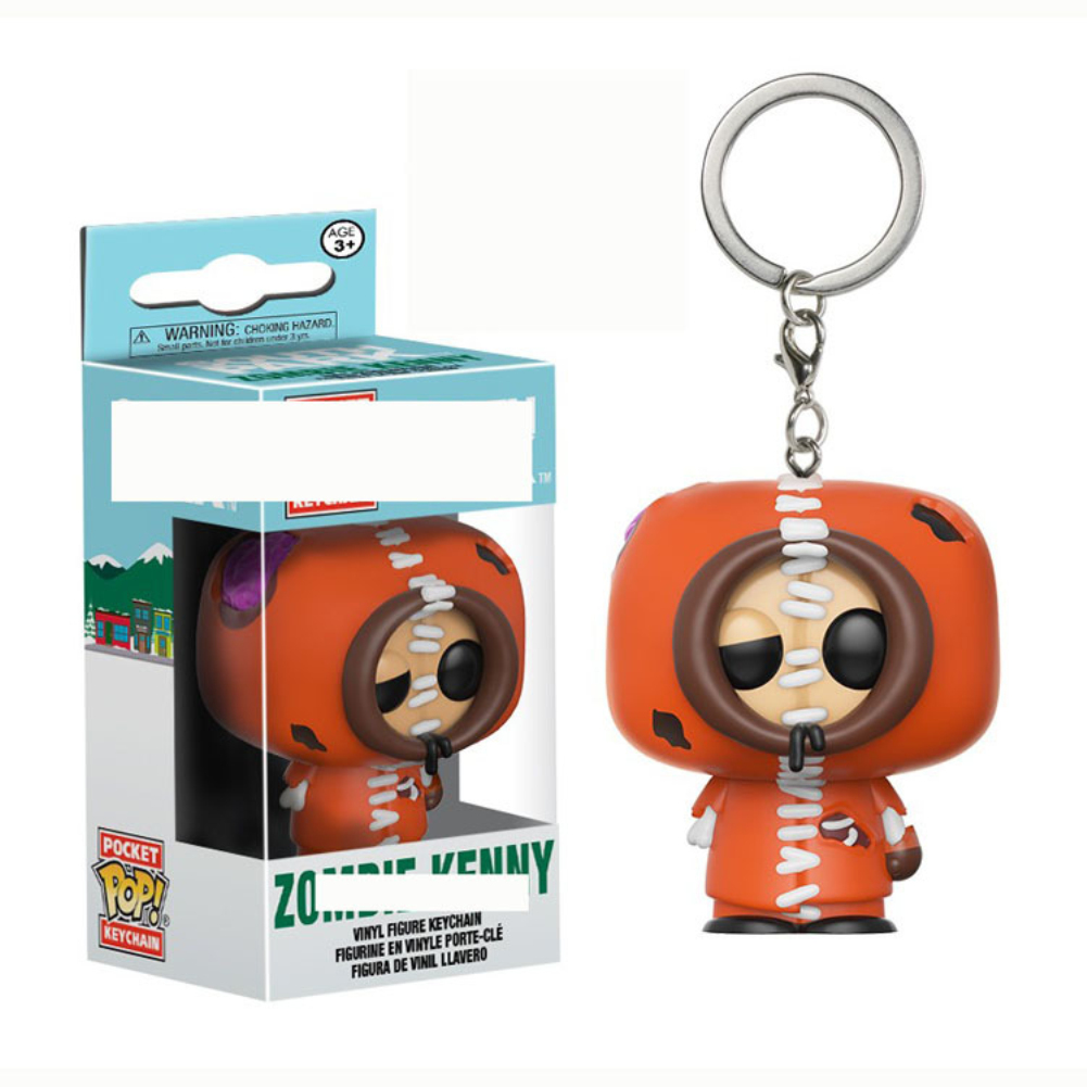 South Park Kenny Zombie Cartoon Doll Key Ring Movie Figures Cute Collection Party Birthday Gift