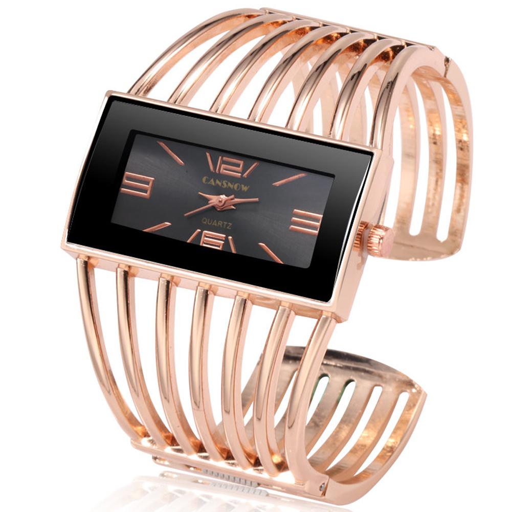 Women Creative Waterproof Alloy Quartz Rectangular Dial Fashion Bracelet Watch Wristwatch 2#