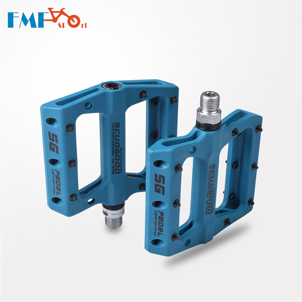 Nylon Fiber Mountain Bike Pedals for Road MTB BMX Bicycle Anti-Skid Pedals Bike Accessories blue