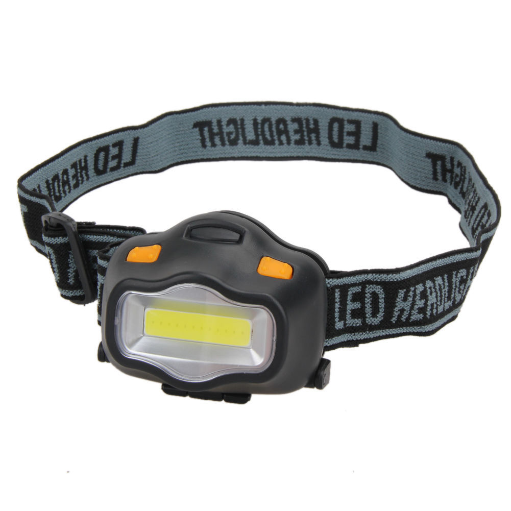 3W 500 Lumens LED Headlamp Flashlight Zoomable Headlight Lamp Light Outdoor black