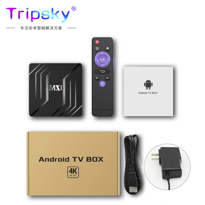 TV Set-Top Box RK3228A 2 + 16G MX1 Network Player Android 9.0