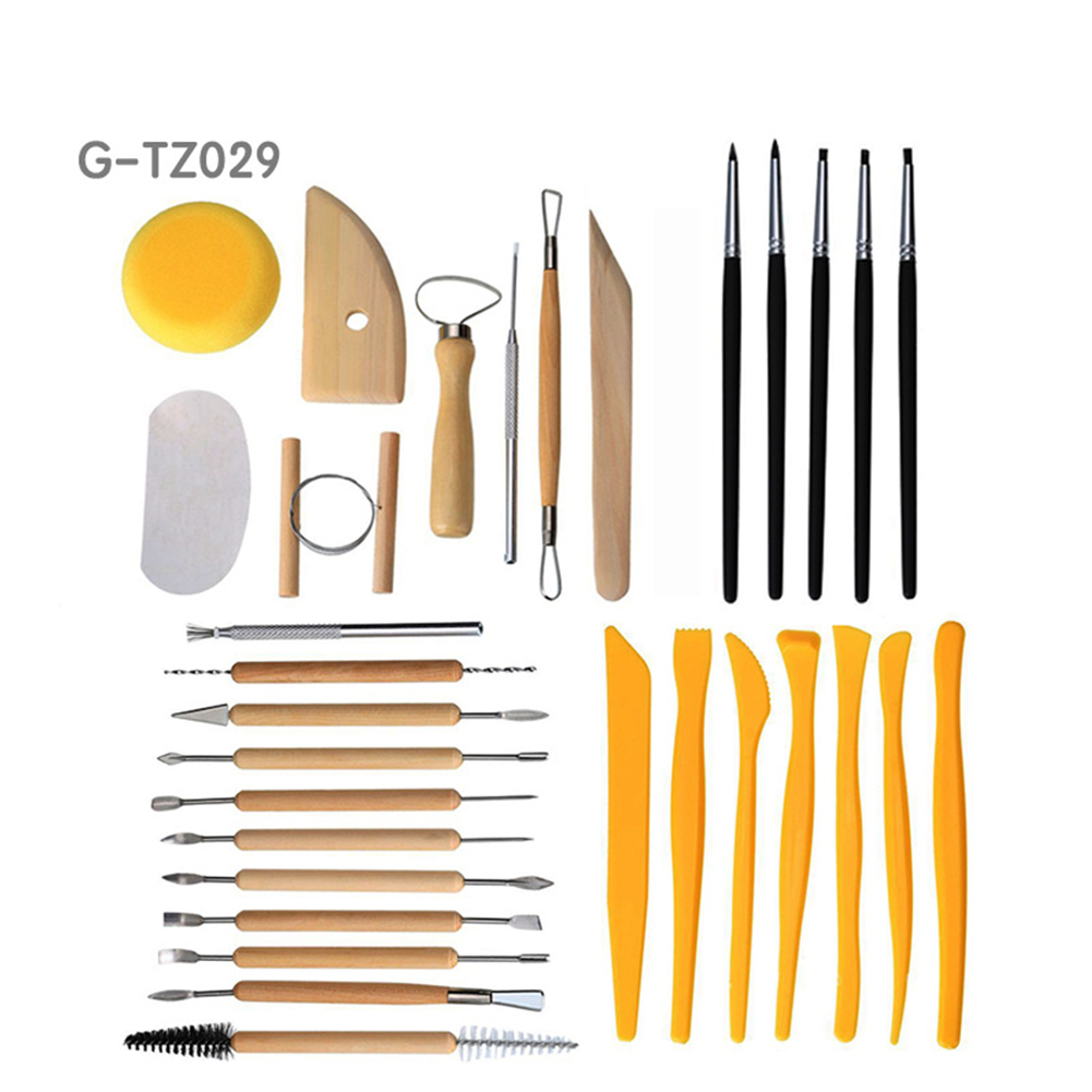 Multifunctional Clay Tool Smooth Handle Clay Shaping Carving Kit