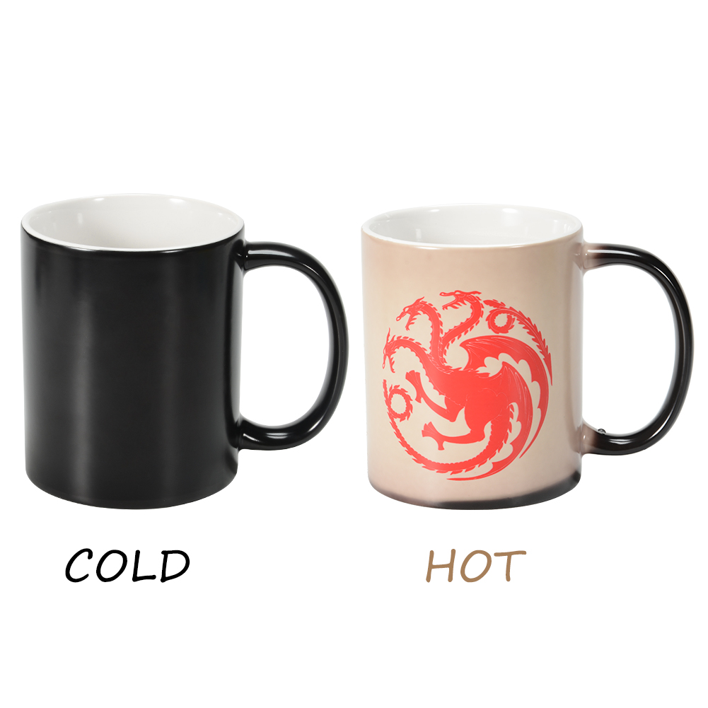 Stylish Unique Heat Sensitive Color Changing Magic Ceramic Mug Cup Christmas Gifts