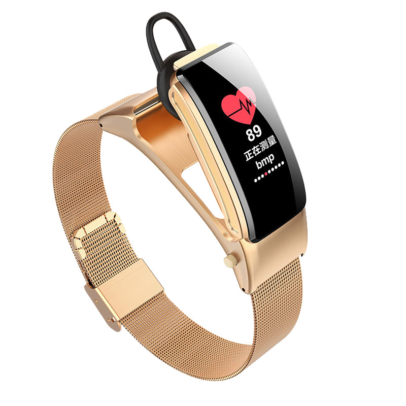 B31S Smart Watch Smart Band Weather Display Blood Pressure Heart Rate Monitor Watch Golden