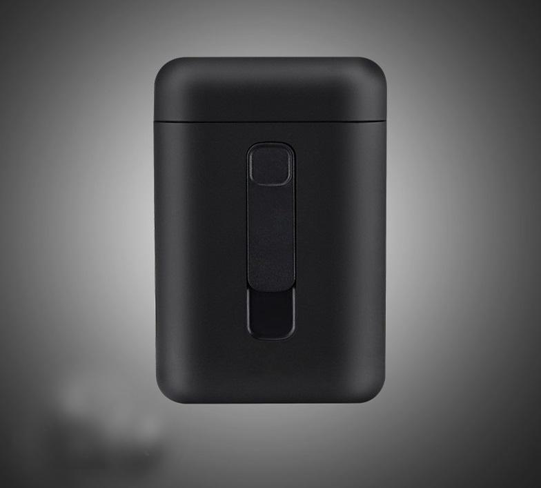 Cigarette Holder Case Lighter 2 in 1 USB Windproof Flameless Electronic Charging Cigarette Lighter black_DH9008
