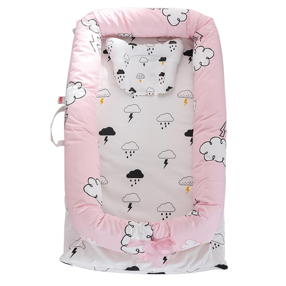 Infant Pretty Detachable Simulating Sleep Nest Baby Portable Travelling Cushion Bed Set Detachable Washable Clouds (set of four)_90*55*15cm