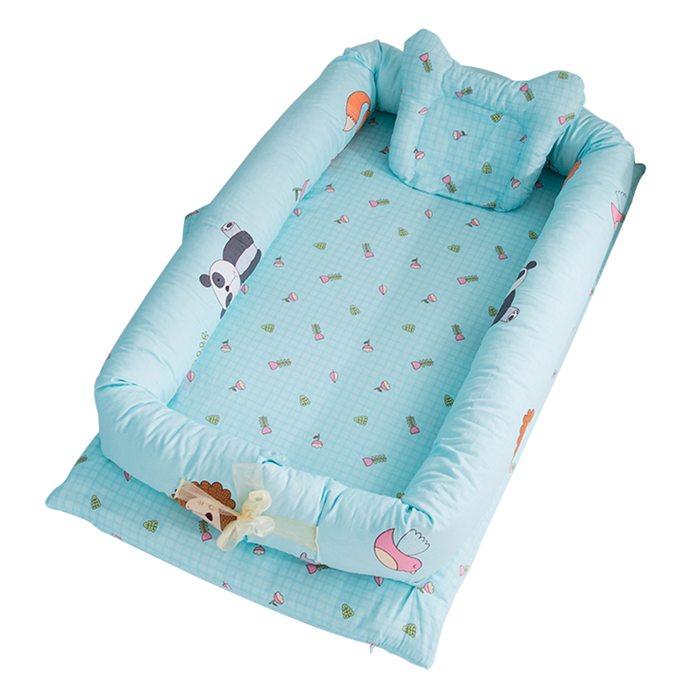 Infant Pretty Detachable Simulating Sleep Nest Baby Portable Travelling Cushion Bed Set Detachable Washable Zoo (set of 4)_90*55*15cm