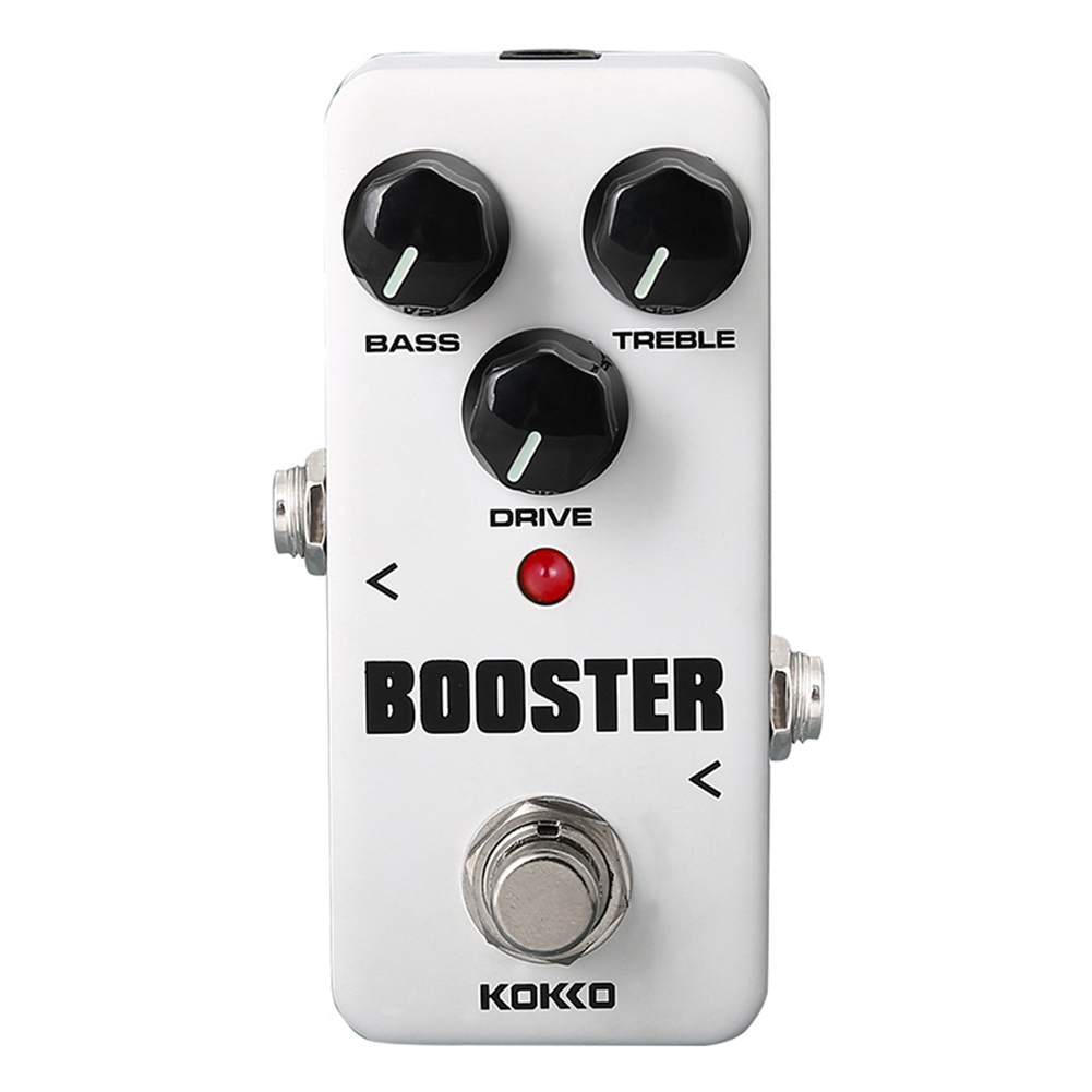 KOKKO FBS2 Mini Booster Pedal Portable 2-Band EQ Guitar Effect Pedal Guitar Parts & Accessories FBS-2 white