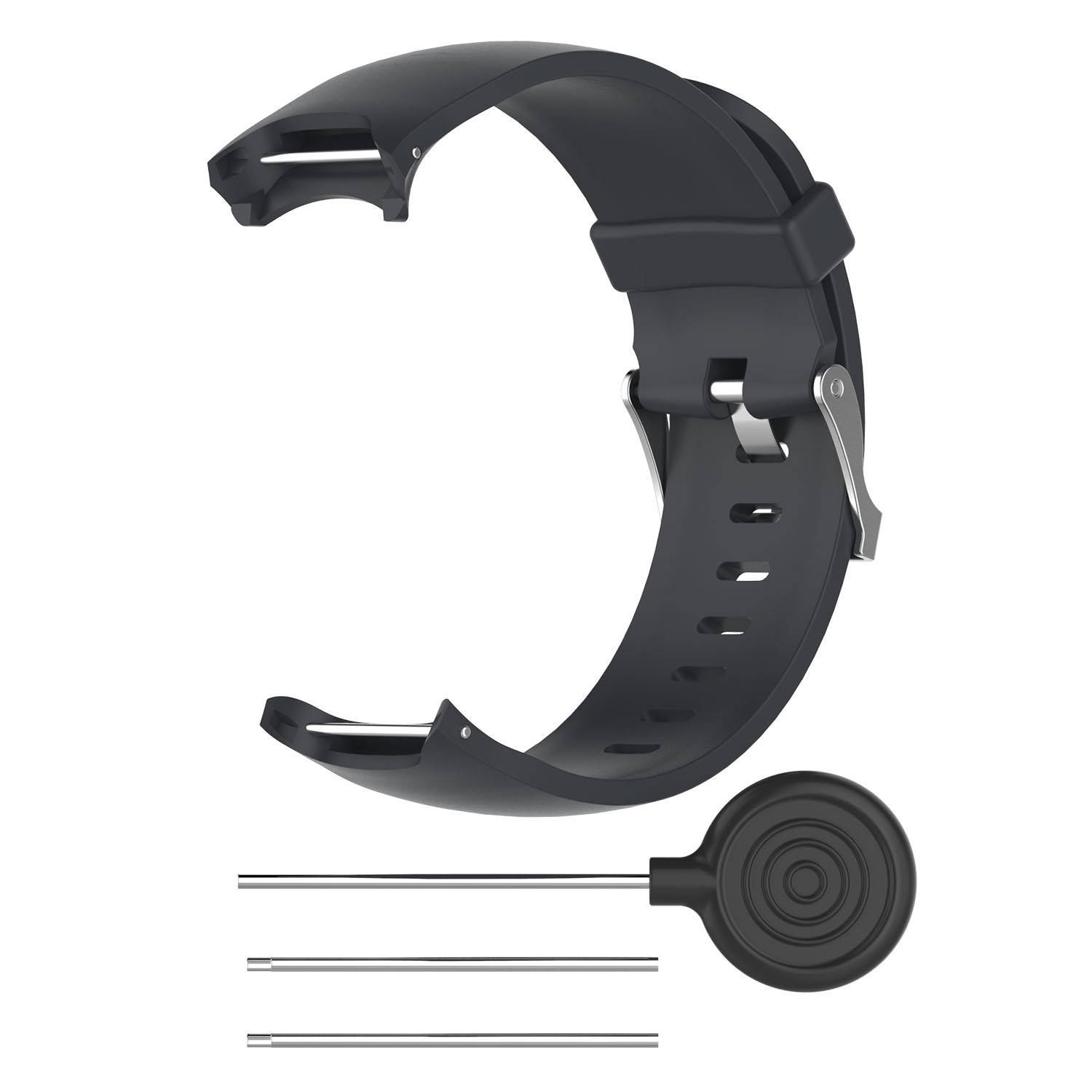 Wrist Band for Garmin Approach S3 GPS Watch Elegant Silicone Watch Strap with Tool Individualized Adjustment black