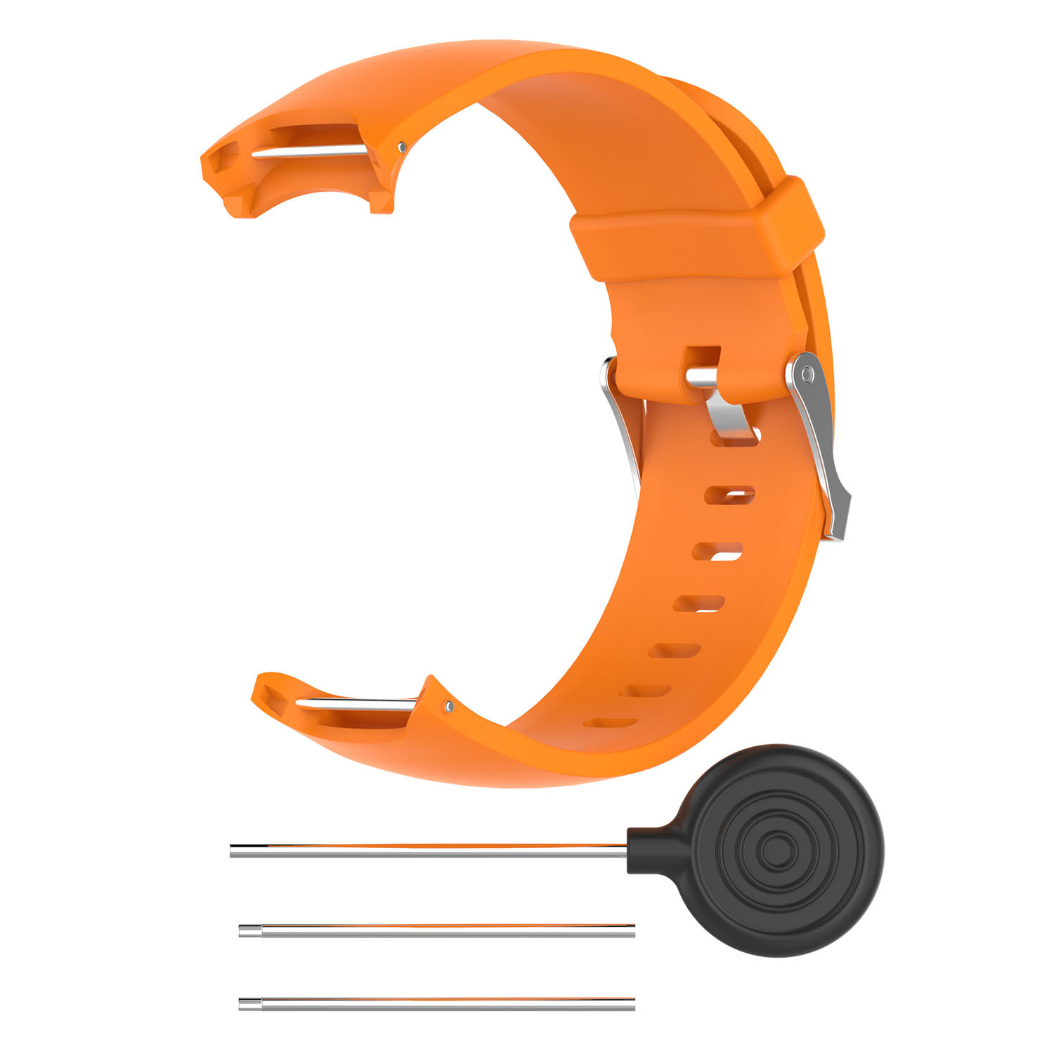 Wrist Band for Garmin Approach S3 GPS Watch Elegant Silicone Watch Strap with Tool Individualized Adjustment orange