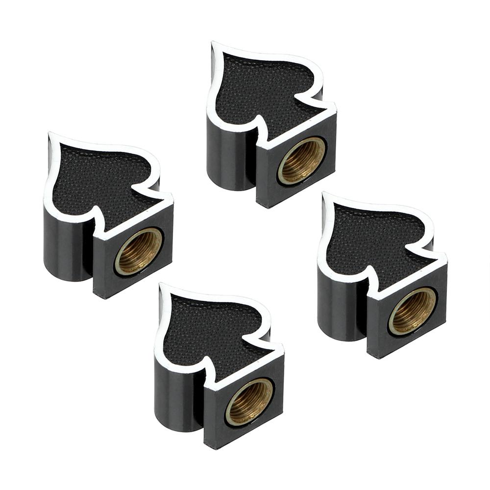 4 Pieces/lot Car Tire Air Valve Cap Car Wheel Tyre Stem Air Caps Covers Dust-proof Auto Tyre Accessories black