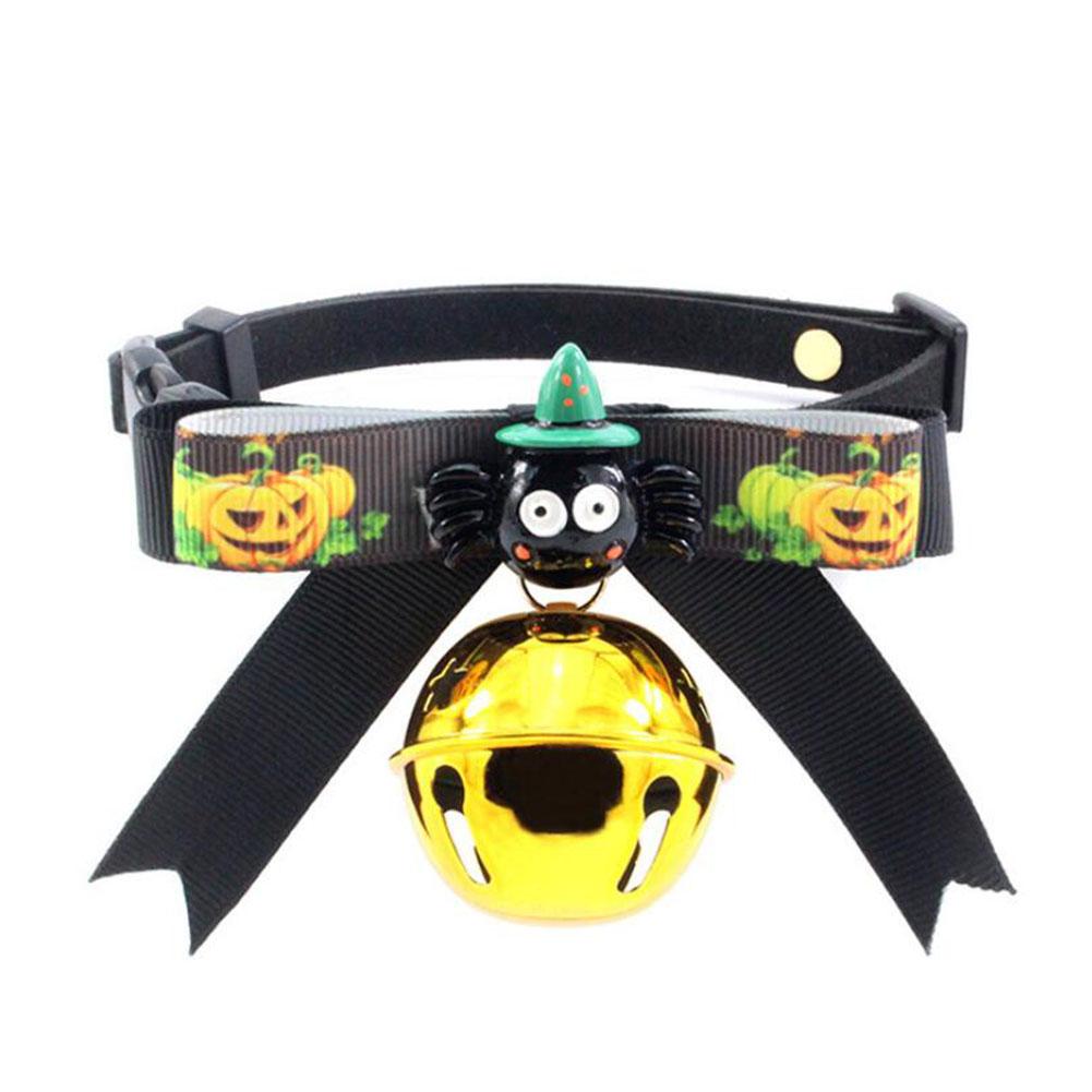 Cute Halloween Series Pet Bowknot Bell Collar for Cats Dogs Wear GBD-E028-2_M