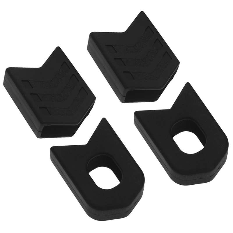 Bike Crank Protector Cover Silica Gel Bicycle Crank Boot Protectors Crankset Protective Cover black