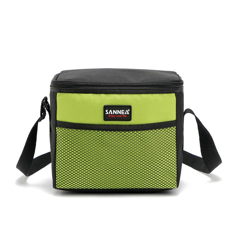 5L Single-shoulder Student Lunch Bag Heat / Cold Preservation Pocket Picnic Bag Green