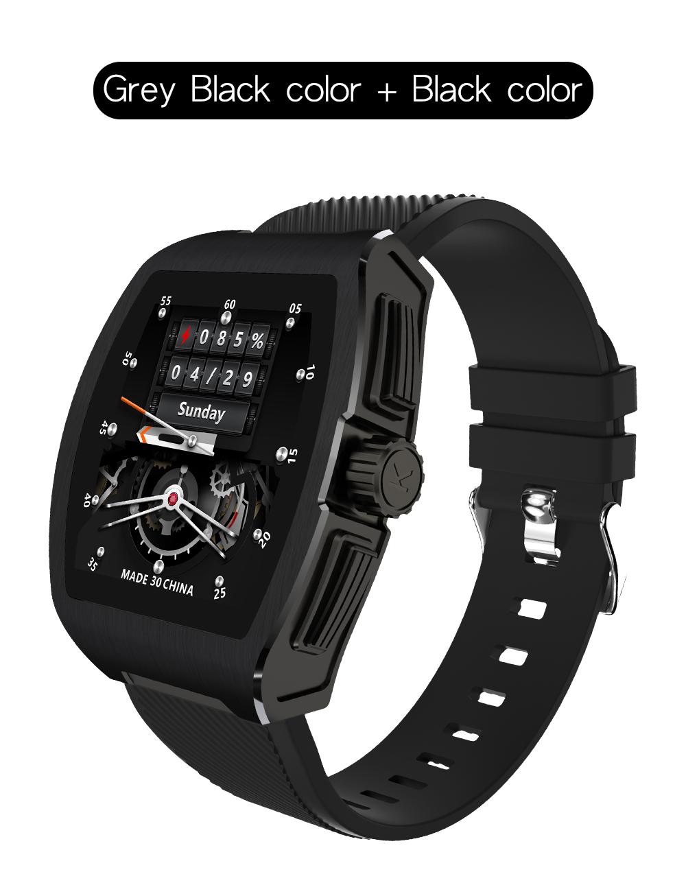 C1 Smart Bracelet Temperature Monitor Bluetooth Heart Rate Blood Pressure Smart Watche black