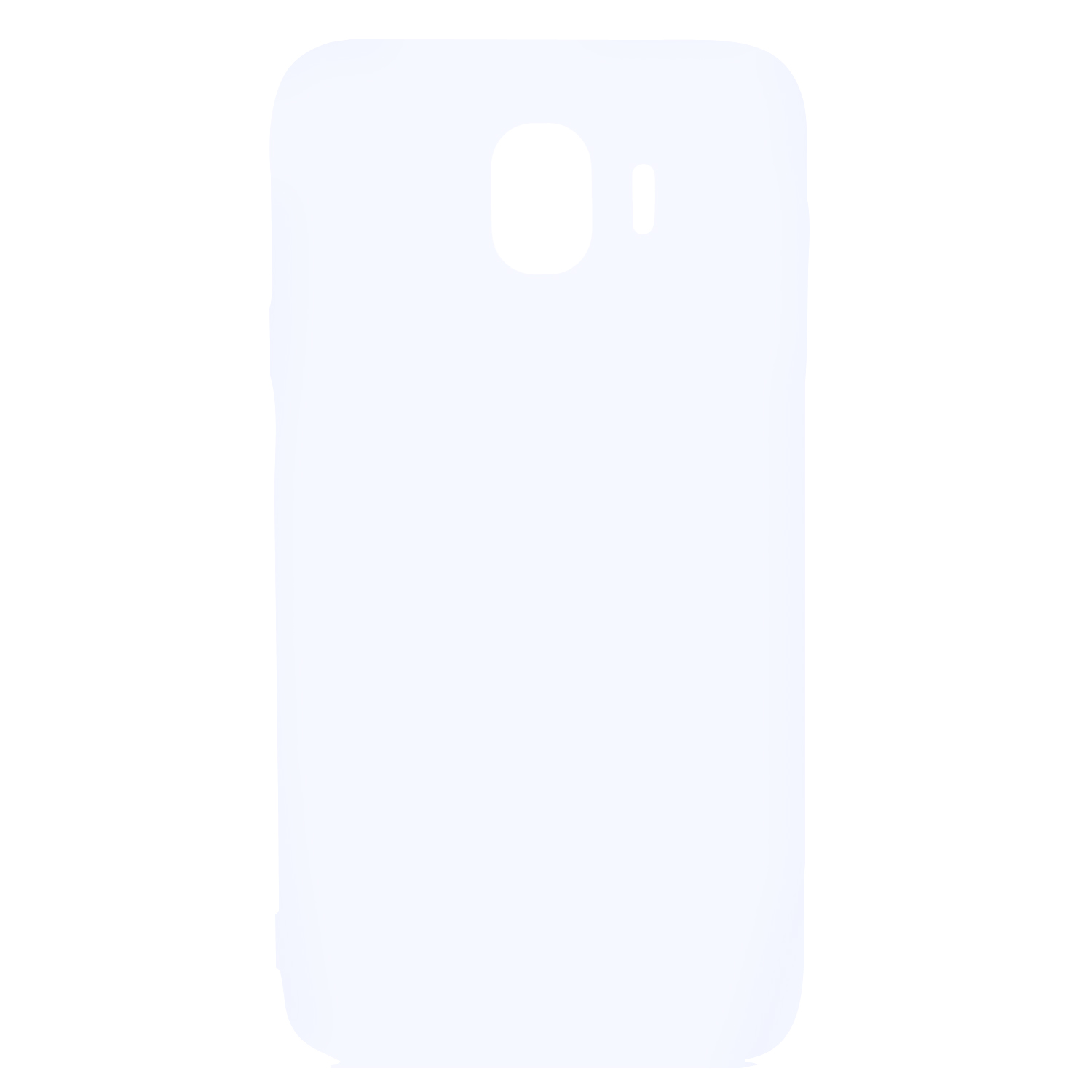 for Samsung J4 Euro Edition Lovely Candy Color Matte TPU Anti-scratch Non-slip Protective Cover Back Case white