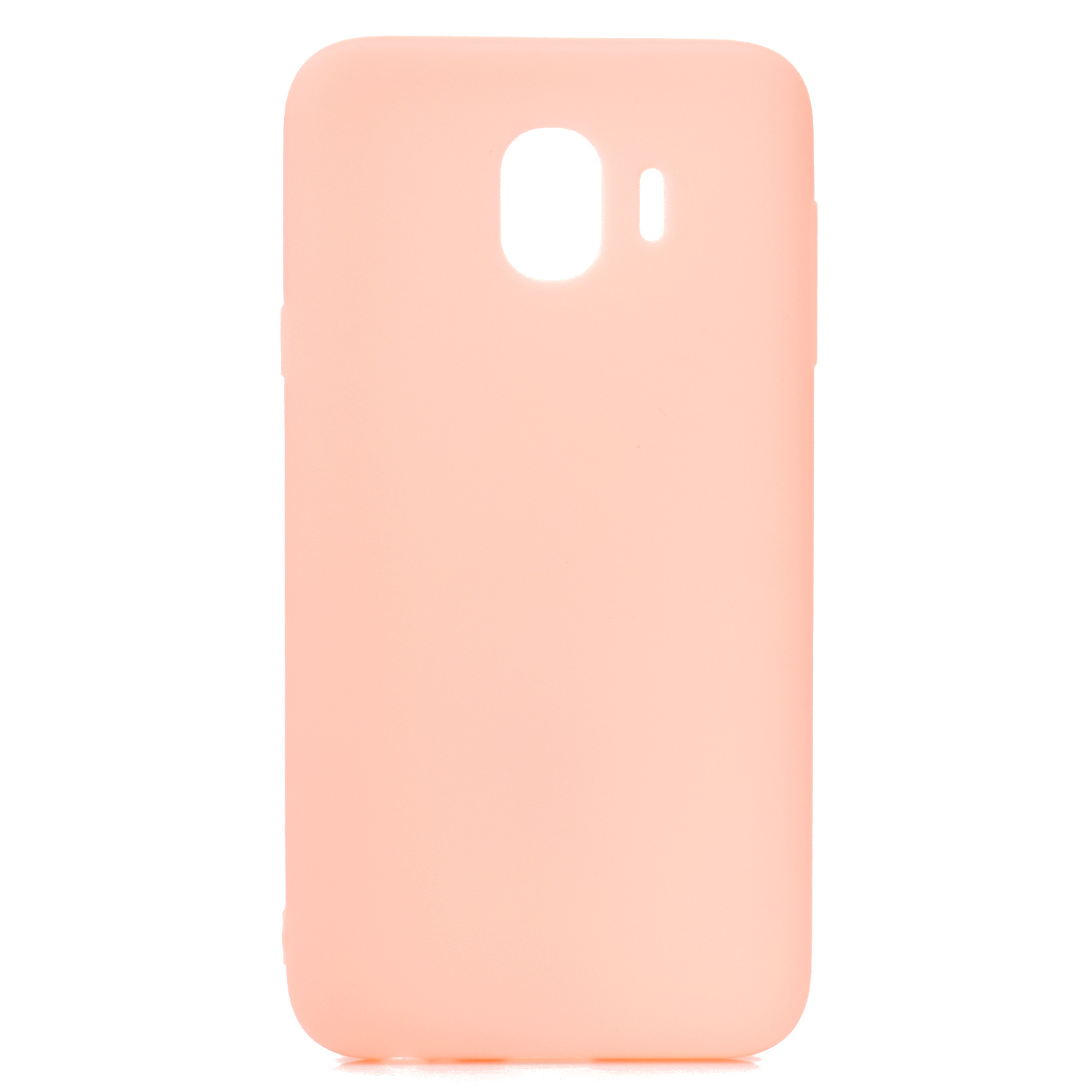 for Samsung J4 Euro Edition Lovely Candy Color Matte TPU Anti-scratch Non-slip Protective Cover Back Case Light pink