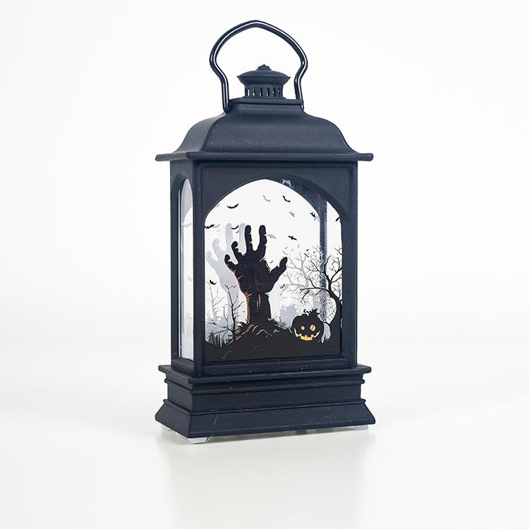 Candle Lamp Transparent Halloween Lantern Decoration for Home Bar Prop