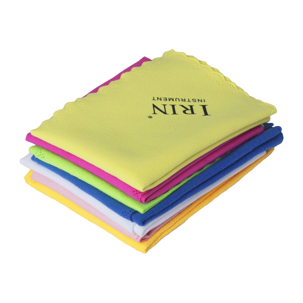 IRIN 7 Pcs Universal Microfiber Cleaning Polishing Cloth for Musical Instrument Guitar Violin Piano Clarinet Trumpet Sax  color