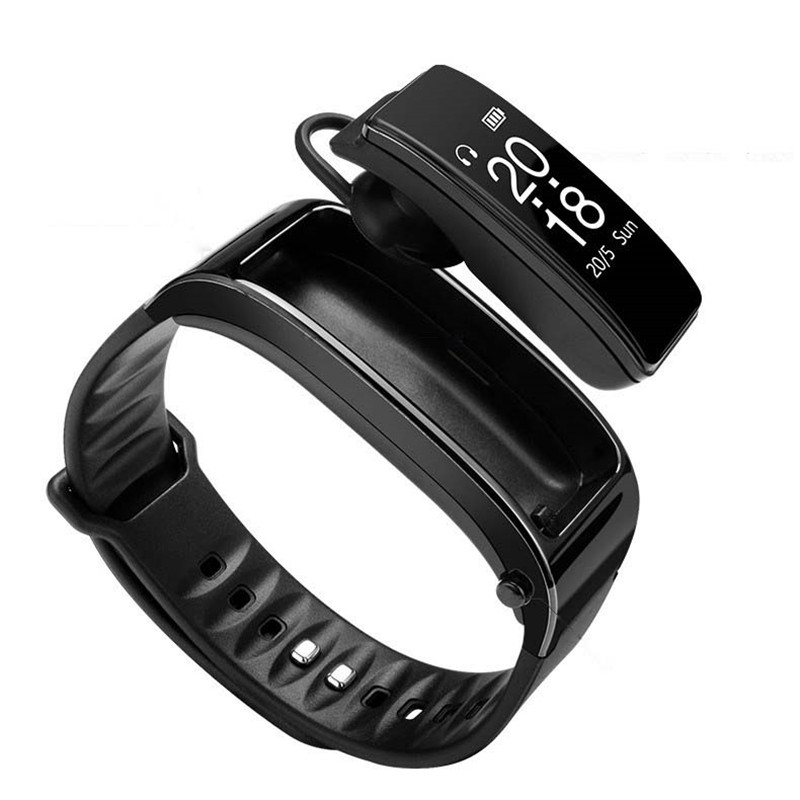 Bluetooth Y3 Color Headset Talk Smart Band Bracelet Heart Rate Monitor Sports Smart Watch Passometer Fitness Tracker Wristband black