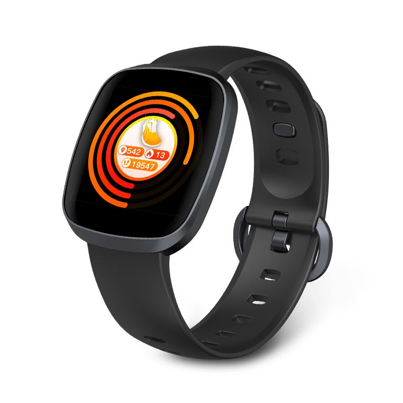Smart Watch Men Blood Pressure Waterproof Smartwatch Women Heart Rate Monitor Fitness Tracker Watch for Android iOS black
