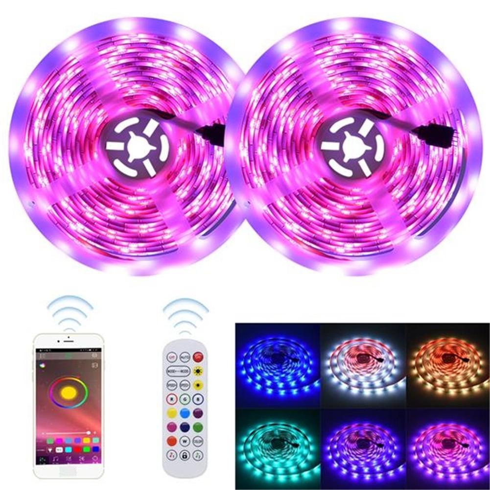 [US Direct] 30-36w 12v 300leds Smart Led Strip  Lights Auto Sensor Lamp For Home Kitchen Tv Party 10m color