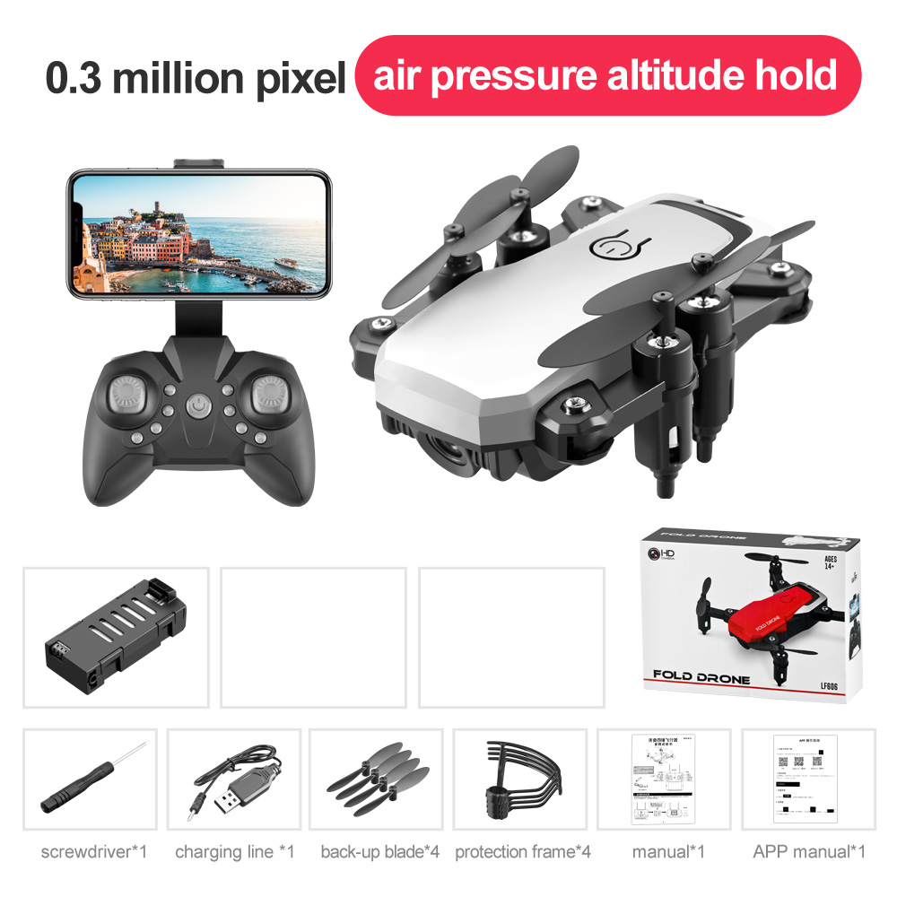 LF606 Mini Drone with Camera Altitude Hold RC Drones HD Wifi FPV Quadcopter Drone RC Helicopter 0.3M