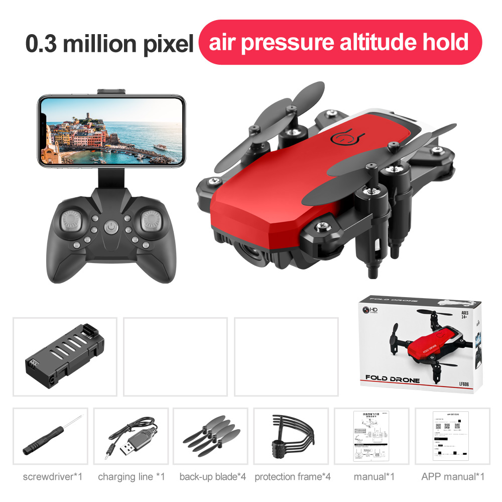 LF606 Mini Drone with Camera Altitude Hold RC Drones with Camera HD Wifi FPV Quadcopter Dron RC Helicopter 0.3M