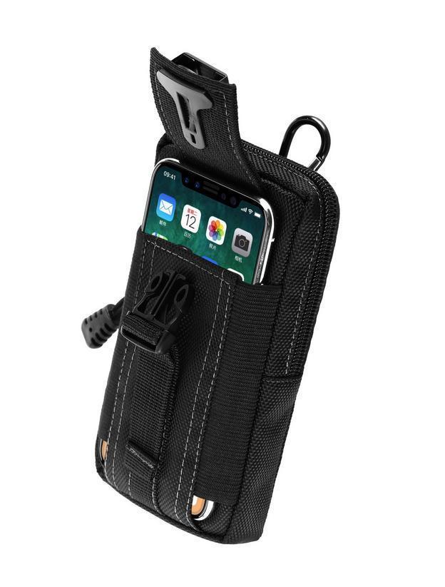 Army Fan Sports Waist Belt Bag Wallet Cell Phone Pouch Case Pocket black