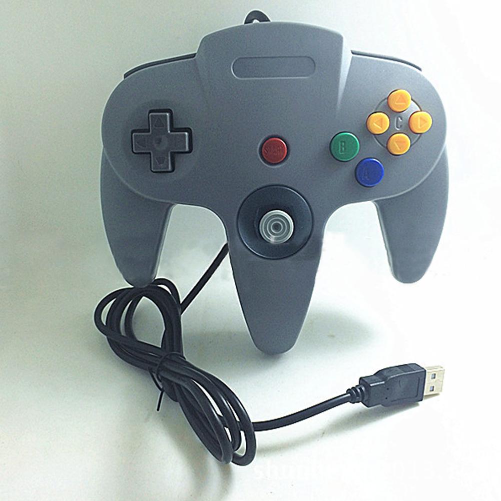 N64 USB N64 ABS Gamepad Controller Joystick PC Computer Game Handle gray